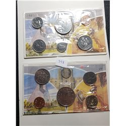1983 AND 1984 CANADA PL COIN SETS