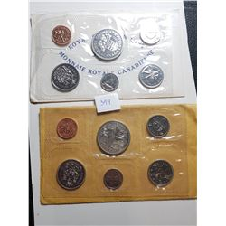1970 AND 1971 CANADA PL COIN SETS
