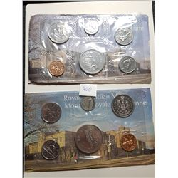 1973 AND 1977 CANADA PL COIN SETS