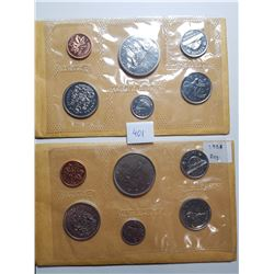 1968 AND 1969 CANADA PL COIN SETS