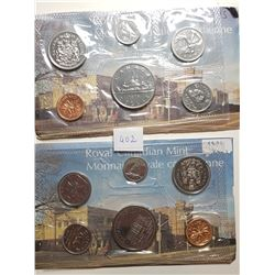 1973 AND 1975 CANADA PL COIN SETS