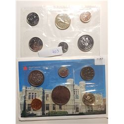 1987 AND 1989 CANADA PL COIN SETS