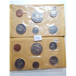 1969 AND 1970 CANADA PL COIN SETS
