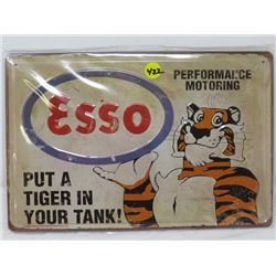 "TIN ESSO SIGN ( 12""X8 "") *REPRODUCTION*"