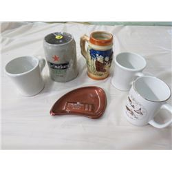 LOT INCLUDING CUPS, MUGS AND ASHTRAY