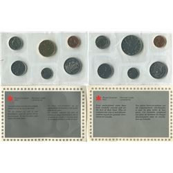 LOT OF 2 PROOF SETS CANADIAN COINS (1 CENT TO 1$) *1987-1988, CANADIAN MINT UNCIRCULATED*