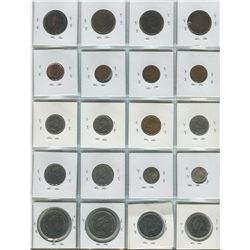 PAGE OF 20 ASSORTED COINS (CANADIAN) *1926-1945*