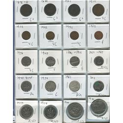 PAGE OF 20 ASSORTED COINS (CANADIAN) *1876-1982*