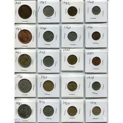 LOT OF ASSORTED WORLD COINS ( CANADIAN, FRANCE, MEXICO, ETC…) *1864 TO 1972*