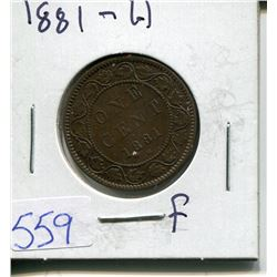 ONE CENT PIECE  ( CANADIAN) *1881*
