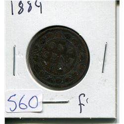ONE CENT PIECE  ( CANADIAN) *1884*