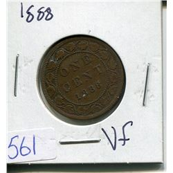 ONE CENT PIECE  ( CANADIAN) *1888*