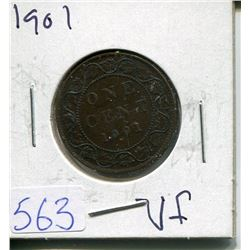 ONE CENT PIECE  ( CANADIAN) *1901*