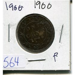 ONE CENT PIECE  ( CANADIAN) *1900*