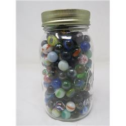 JAR OF MARBLES (VINTAGE)