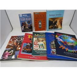 COLLECTORS BOOKS (TOYS, ADVERTISING, TINS, JEWELERY, GOLF)
