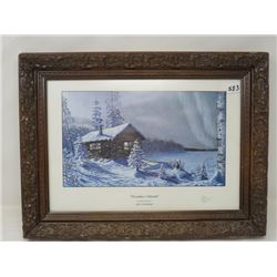 LIMITED EDITION SIGNED PRINT (GLEN SCRIMSHAW-  DECEMBER WARMTH 53/399) *14 3/4 X 10 1/2*