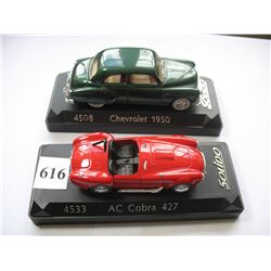 SOLIDO TOY CARS - 1950 CHEVROLET & AC COBRA 427
