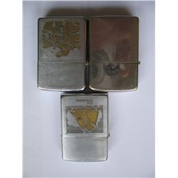 LOT of 3 ZIPPO LIGHTERS & Bonus