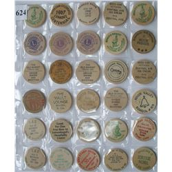 LOT of 30  WOODEN NICKELS - TOKENS - Some Duplication