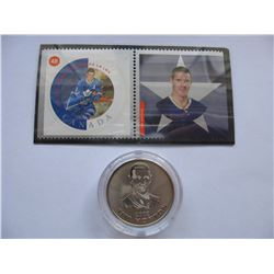 CANADA POST STAMP & MEDALLION SET - TIM HORTON