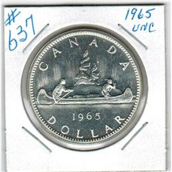 1965 CANADIAN SILVER DOLLAR - Uncirculated