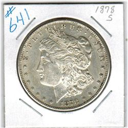 1878S  US MORGAN DOLLAR