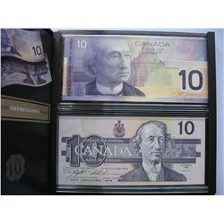 LIMITED EDITION - Two Uncirculated $10 Bank Notes - Identical Serial Numbers
