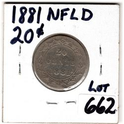 20 CENT PIECE (NEWFOUNDLAND) *1881*