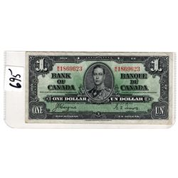 GORDON / TOWERS 1937 DOLLAR BILL