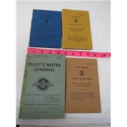LOT OF ASSORTED PILOTS NOTES AND 3 PRIVATE PILOTS LICENCES (1960'S)