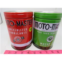 LOT INCLUDING 2 MOTOMASTER LUBRICANT AND MOTOR OIL BANK