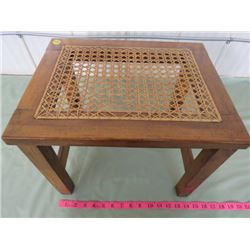 PRIMITIVE HAND MADE STOOL (STAMPED - CHRISTMAS S.M.J. 1916)