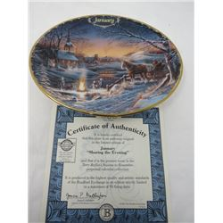 TERRY REDLIN SEASONS TO REMEMBER PLATES (JANUARY)