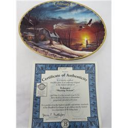TERRY REDLIN SEASONS TO REMEMBER PLATES (FEBRUARY)
