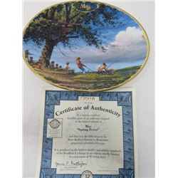 TERRY REDLIN SEASONS TO REMEMBER PLATES (MAY)
