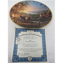 TERRY REDLIN SEASONS TO REMEMBER PLATES (JULY)