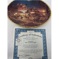 TERRY REDLIN SEASONS TO REMEMBER PLATES (SEPTEMBER)