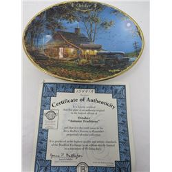 TERRY REDLIN SEASONS TO REMEMBER PLATES (OCTOBER)