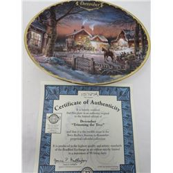 TERRY REDLIN SEASONS TO REMEMBER PLATES (DECEMBER)