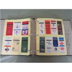 BINDER OF MATCHBOOKS (ADVERTISING)