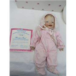 ASHTON DRAKE DOLL (MEHGAN ROSE WITH CERTIFICATE) *PORCELAIN)
