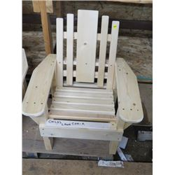 CHILDREN'S WOODEN LAWN CHAIR  *HANDMADE BY GORDON BRAATEN*