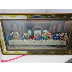 "FRAMED RELIGIOUS PICTURE *FRAMED 32"" X 17.75""*"