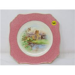 SQUARE DINNER PLATE (ROYAL WINTON R GRIMWADES, ENG,) *#5254M, HAND PAINTED*
