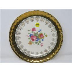 DINNER PLATE (PLAZA) *22K GOLD BORDER*