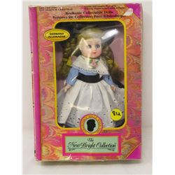 "BOOKCASE COLLECTIBLE DOLL (IN ORIG. BOX) MADE IN GERMANY *8.5"" H*"