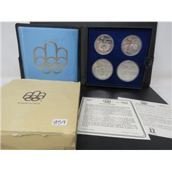 SET OF 4 OLYMPIC COINS (2X $5, 2X 10$) *MONTREAL 1976*