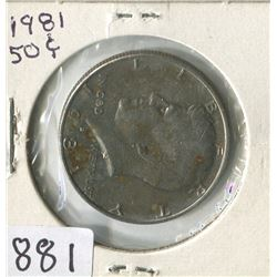 FIFTY CENT COIN (USA) *1981*