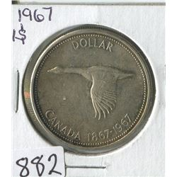 ONE DOLLAR COIN (CANADIAN GOOSE 1867-1967) *1967*